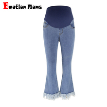 Emotion Moms Elastic Waist Maternity Clothes Boot Cut Maternity Jeans For Pregnant Women Fine pregnancy Pants Maternity trousers(Hong Kong,China)