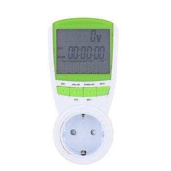 1 unidad 230 V 50Hz UE/UK/US enchufe eléctrico ahorro de energía medidor de consumo de vatios voltios analizador de Monitor de frecuencia Amp