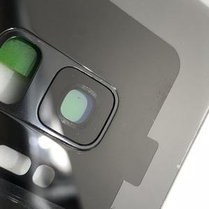 Image 5 - S9 الزجاج الأصلي لسامسونج غالاكسي S9 plus G960 G965 عودة غطاء البطارية الباب الخلفي الإسكان + لاصق الغراء مقاوم للماء