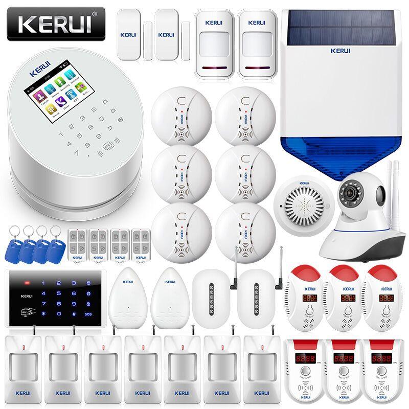 Güvenlik ve Koruma'ten Alarm Sistemi Kitleri'de KERUI W2 APP Kontrolü Hırsız WiFi GSM PSTN Alarme konut Ev Güvenlik Akıllı Kablosuz 2.4 inç TFT Renkli ekran alarmı Takım Elbise title=