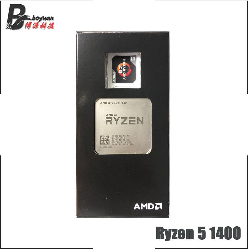 AMD Ryzen 5 1400 R5 1400 3 2 GHz Quad Core CPU Processor