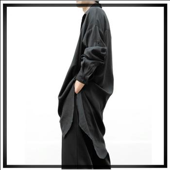 S-6xl ! 2020 Spring And Summer New Original Design Men Loose Casual Long Shirt Thin Section Windbreaker Air Conditioning Shirts