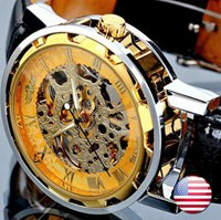 Relogio Masculino Winner Brand New Men's Automatic Mechanical Watches Leather Strap Watch Fashion Sports Men luxury Wristwatches