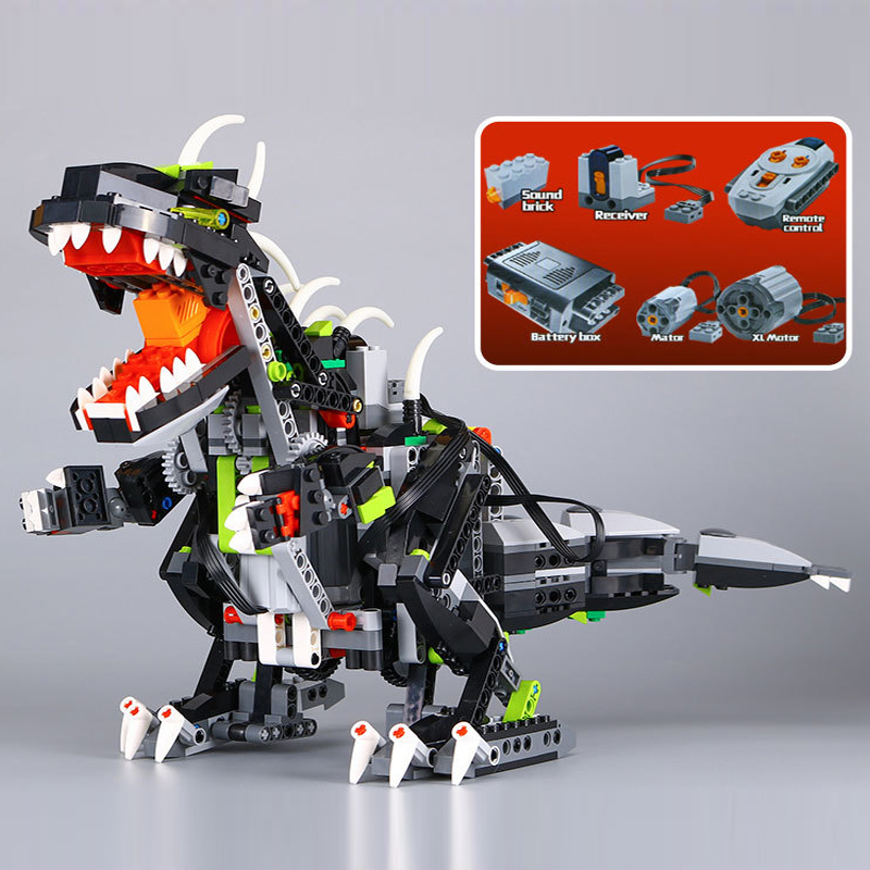CX Compatible Legoe Technic Lepin 24010 792pcs 3 in 1 Dinosaur RC Sound Function building blocks 4958 Bricks toys for children technic 2 in 1 rally car lepin building blocks set bricks city classic model kids toys for children gift compatible legoe