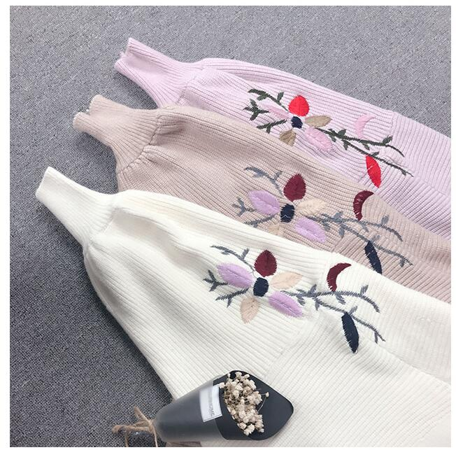 High Quality Embroidery Cardigan Coat Women Sweater 2019 New Autumn Winter Long Sleeve Knitted Cardigans Female Tricot Tops 1800 in Cardigans from Women 39 s Clothing