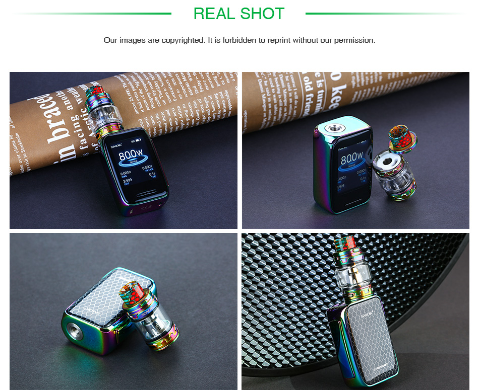 , Original SMOK X-Priv Baby Vape Kit with 4.5ml/ 2ml TFV12 Big Baby Prince & Built-in 2300mAh Battery 80W Max Power X Priv Baby