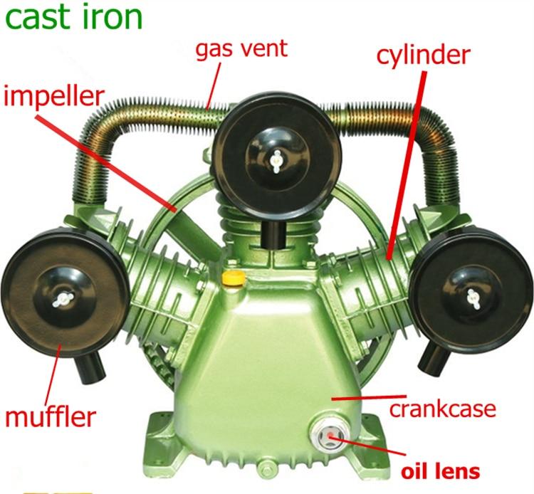 4kw Air.Delivery 600L/min 220V/380V Air Compressor Head Double Piston панель декоративная awenta pet100 д вентилятора kw сатин