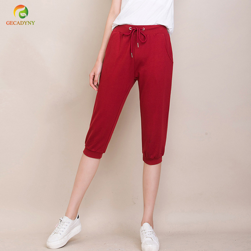 2019 Good Quality Summer Women Casual Cotton Harem   Pants   Cropped Trousers Women Skinny   Pants     Capris   Trousers For Girls/Students