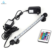 28cm RGB Remote Aquarium Light Fish Tank Waterproof 5050 SMD LED Bar Light Aquatic Lamp Submersible EU US SAA UK plug 46cm 18pcs led aquarium fish tank light tube bar light underwater submersible air bubble safe lighting us eu uk saa plug