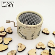 Zipi music box Instruments paper hand crank 18 Tones music box movement DIY romantic music christmas present Birthday present