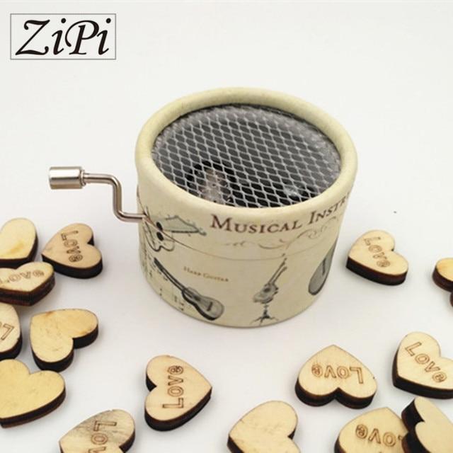 Zipi music box Instruments paper hand crank 18 Tones music box movement DIY romantic music christmas present Birthday present