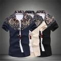 summer style mens shirt new short sleeve shirt roupas camisa masculina dress shirts for men 2015 retro hawaiian shirt MSH028