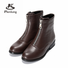 Genuine cow Leather Ankle women chelsea Boots Comfortable quality soft Shoes Brand Designer Handmade winter boots with fur black women winter boots genuine cow leather ankle comfortable quality soft shoes brand designer handmade winter boots black with fur