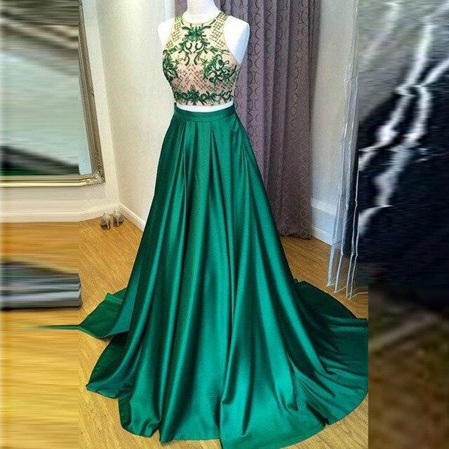 604c382d1 € 35.15 |Formal estilo verde Faldas mujer personalizado zipper cintura una  línea piso longitud Maxi falda noche prom falda en Faldas de Ropa de ...