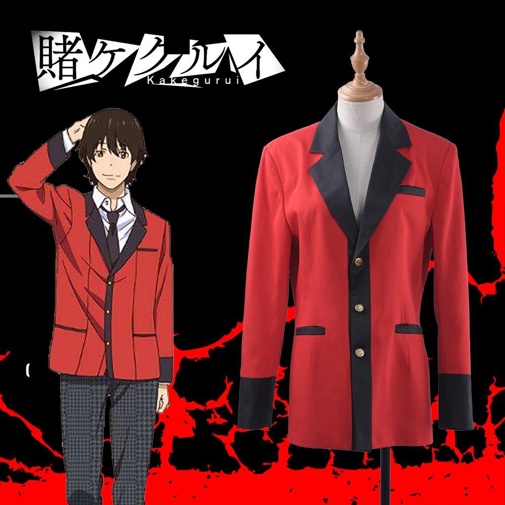 S XL Kakegurui Compulsive Gambler Manyuuda Kaede Suzui Ryota Kirari Momobami Cosplay Red JK Uniform Jacket