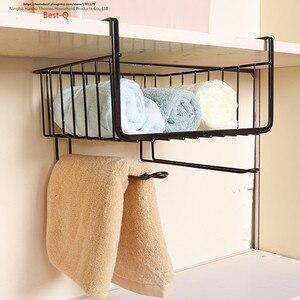 Image 3 - Closet shelf storage rack layered hanging basket shelf dormitory kitchen cabinets