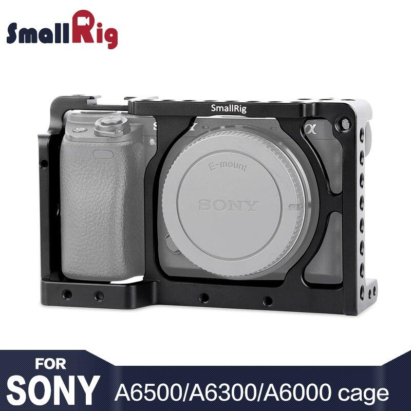 (Nueva versión) cámara SmallRig para Sony A6300/A6000 ILCE-6000/ILCE-6300/Nex-7 jaula con 1/4 3/8 agujeros de rosca- 1661