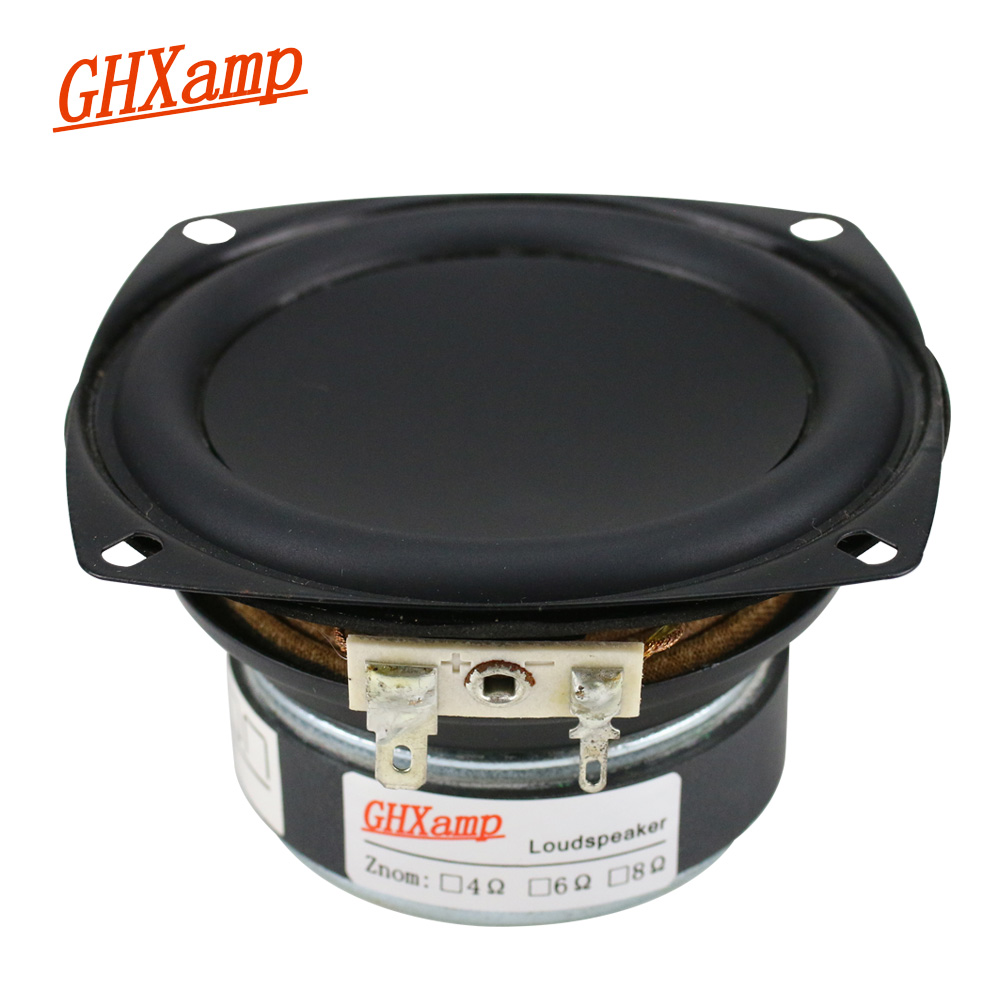 3.5 Inch Woofer Speaker Unit Hifi Deep Bass Loudspeaker 8Ohm 20W Long Stroke For Bookshelf Car Speakers DIY 1PC
