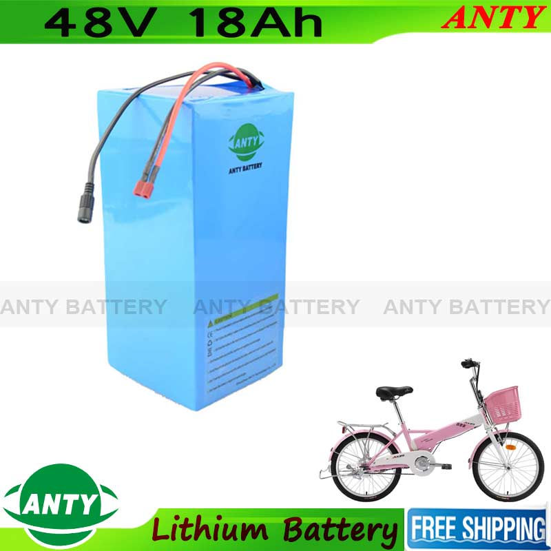 E-Scooter Battery 48V 18Ah 1000W Lithium Battery Pack 48V With 54.6V 2A Charger 30A BMS eBike Battery 48V Free Shipping free customs taxes high quality 48 volt li ion battery pack with 2a charger and 30a bms for 48v 15ah 1000w lithium battery pack