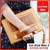 Case For IPad Mini4 7 9 Premium PU Leather Business Folio Stand Pocket Strap Auto Wake