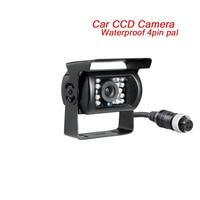 4Pin 700TVL Back Rear View Car Parking Camera Waterproof 120 Degree CCD Reversing Bus Analog CCTV Camera For Dvr/Dvd