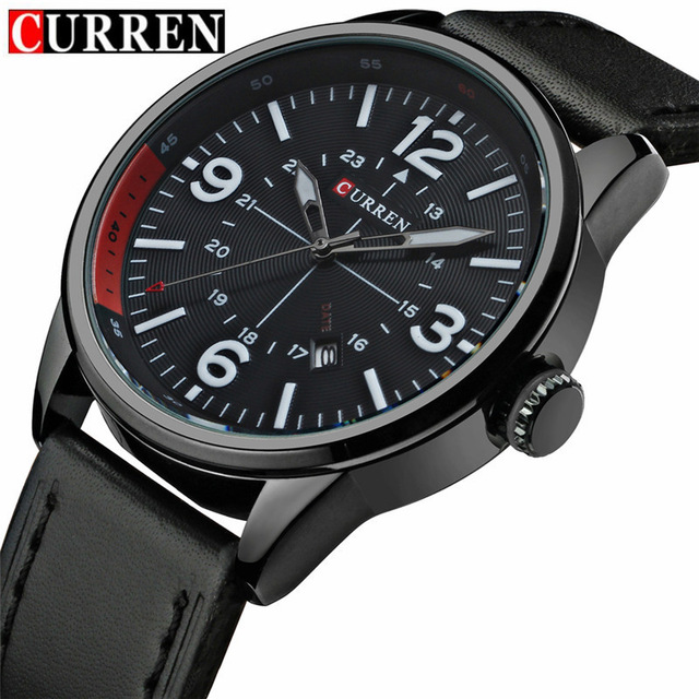Relogio Masculino Fashion Montre Homme Reloj Hombre Quartz-Watch Curren Male Watch Leather Wristwatches Men Curren Watches 8215