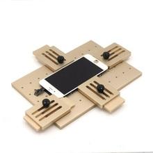 Aleación de aluminio Universal del teléfono LCD OCA Laminado molde Fijo LCD Reemplazar Pegamento UV Sostenedor De Cristal Del Molde Del Molde para el iphone Samsung