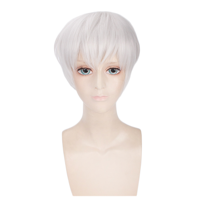 Anime Tokyo Ghoul Ken Kaneki Wig Cosplay Costume Men & Women Short Hair Halloween Party Wigs