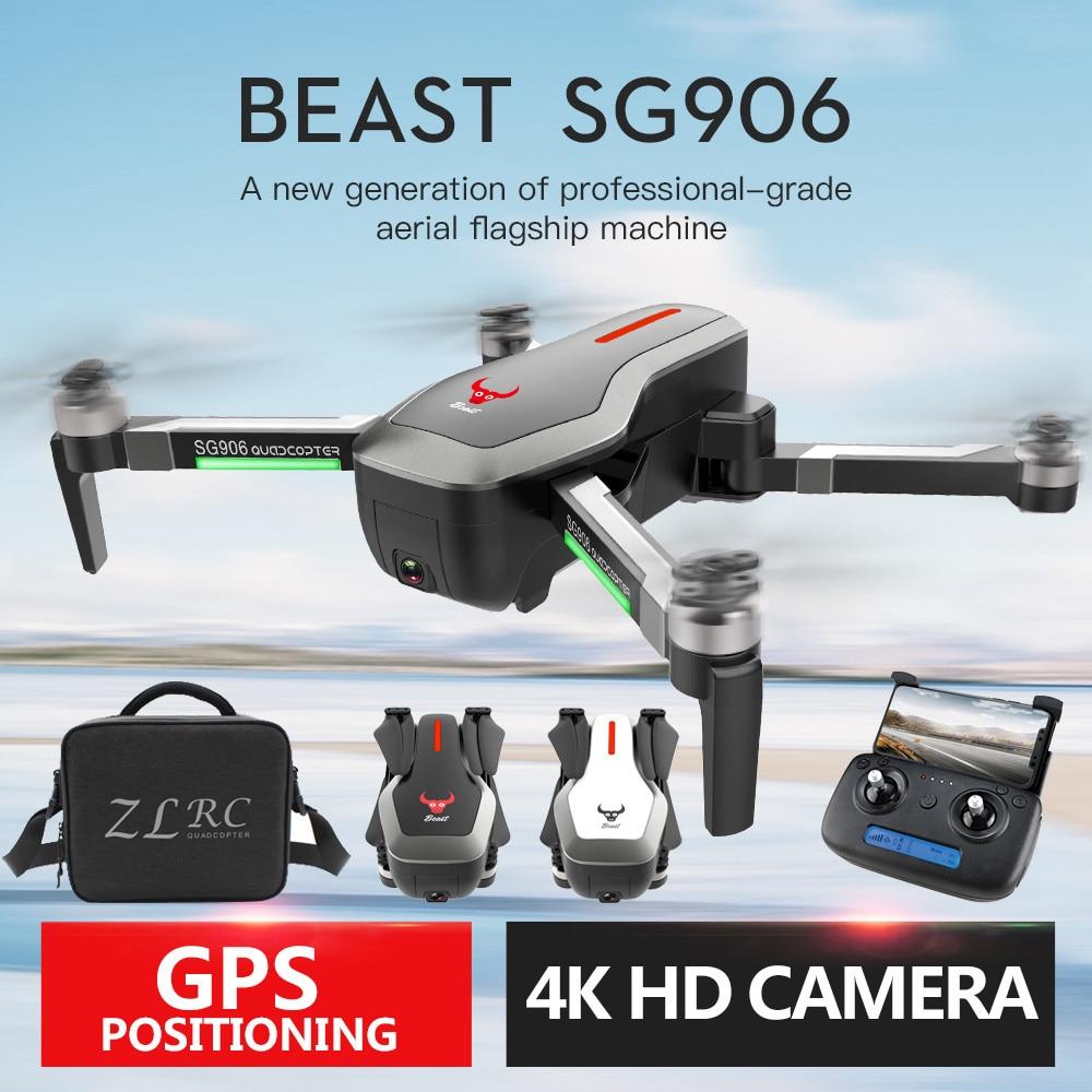 SG906 GPS 5G WIFI FPV 4 K caméra sans brosse Selfie pliable Drone quadrirotor + sac Drones avec caméra HD Rc quadrirotor volant Minion