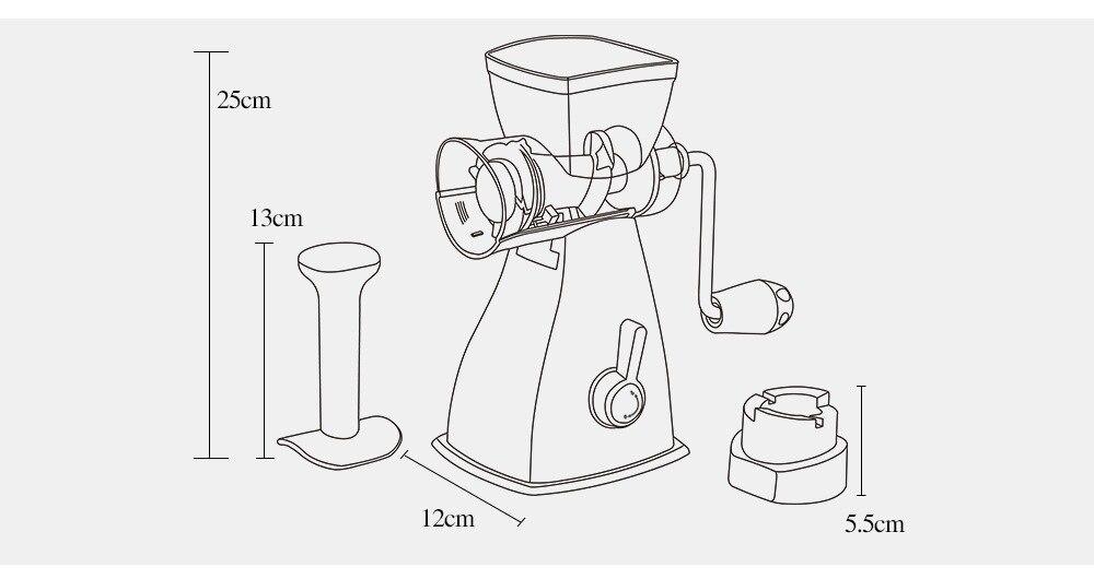 Manual De Casa Multifuncional Moedor De Carne Legumes Chopper Alho