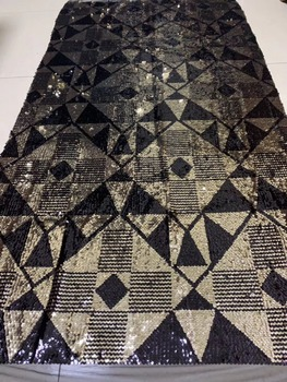 Fashion sequins lace fabric African French net tulle Lace Fabric for party with embroidery