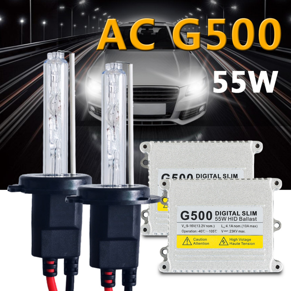 H1-8000K Ice Blue Innovited 55W AC Xenon HID LightsAll Bulb Sizes and Colors with Digital Slim Ballast 2 Year Warranty