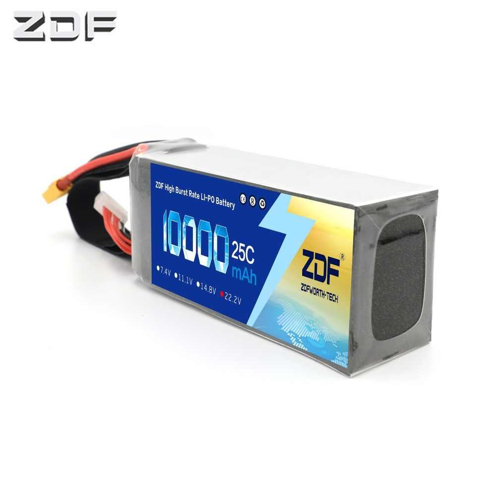 ZDF Lipo Batterij 22.2 V 10000 mAh 6 S 25C 50C XT60 EC5 plug Voor RC Auto Vliegtuig Helicopter Quadcopter onderdelen Drone Lithium Batterij
