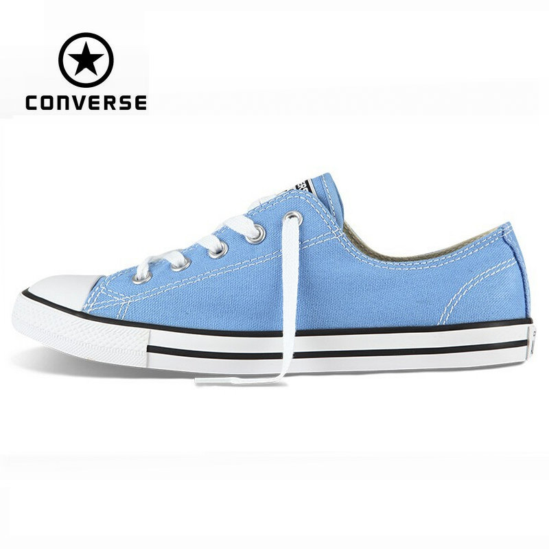 цена на Original Converse All Star shoes Dainty sneakers women low powderblue canvas shoes for women Skateboarding free shipping