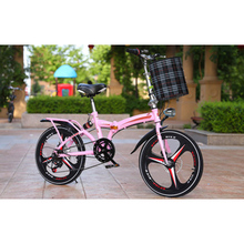 Folding Bike 20 Inch Speed Three-Knife Disc Brake Adult Men And Women Ultra-Light Students Carry a S