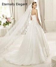 Voile De mariage blanc/ivoire, 3m De Long, peigne, manterie, en dentelle, accessoires De mariage, MD3030, Photos réelles
