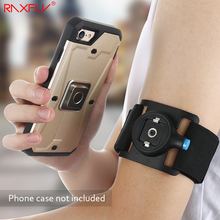 RAXFLY Universal Phone Armband Arm Clip Case For iPhone 6 6S 7 Plus 5S Samsung S8 Plus Outdoor Sports Arm With Arm Clip Armband