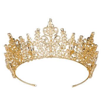 Hadiyana New Top Quality Wedding Bridal Headband Jewelry Crown Flower Cubic Zirconia Tiara 2018 Girls Zircon Tiara Crowns HG6040