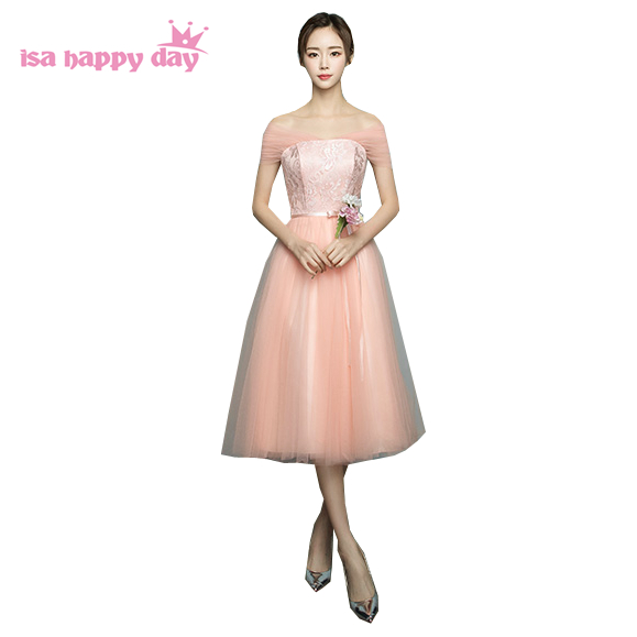 ladies chinese dresses strapless short bridemaid dress peach traditional bridesmaids to party for wedding guests H4111