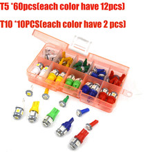 License Light Parking Backup 70pcs Reading Car Auto T5+T10 LED Instrument Panel Indicator Turn signal(China)