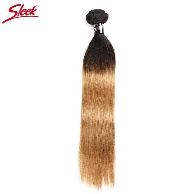 Sleek Ombre Brazilian Hair Straight 1b27 Human Hair Weave Bundles