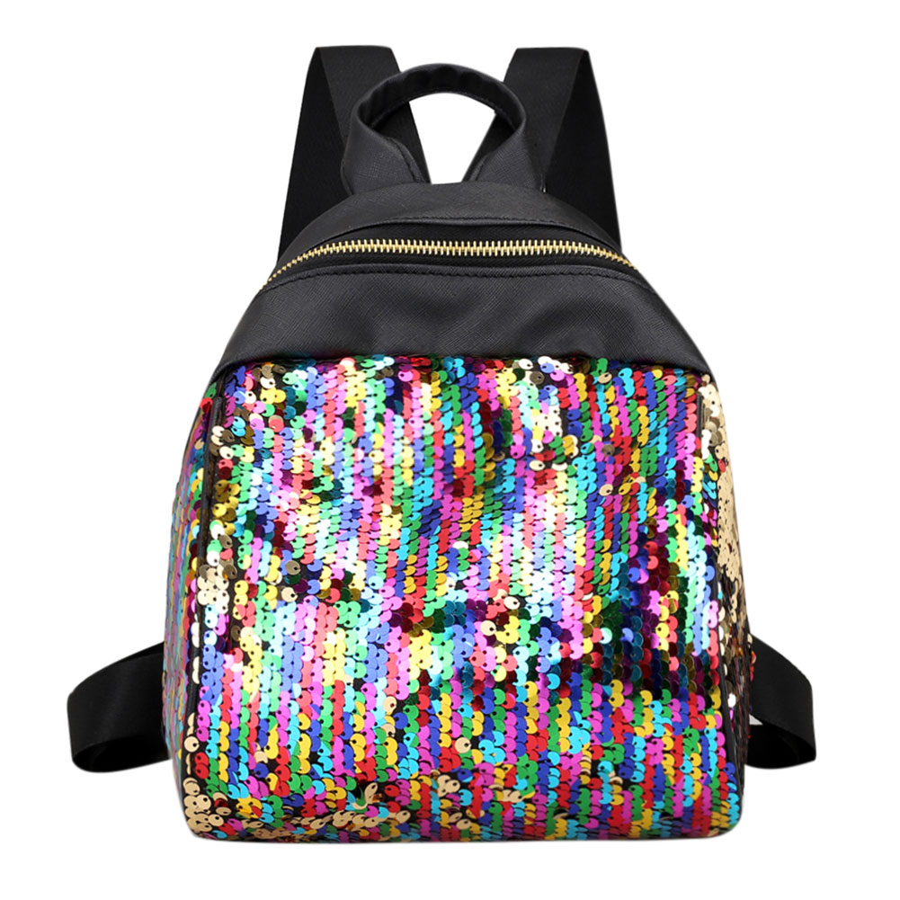 Women Sequins Backpack BlingBling School Bags for Teenage Girls Ruckack Mochila Small Leisure Travel Bag Mini Backpack Backpacks vintage cute owl backpack women cartoon school bags for teenage girls canvas women backpack brands design travel bag mochila sac