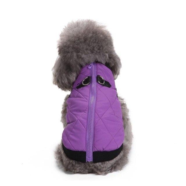 Vestiti dell animale domestico di Inverno Cappotto Giacca Con Zip Caldo  Vestiti Del Cane Giacca 8ed2bf3f16e