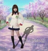 Free Shipping Clannad Ibuki Fuko Hikarizaka Private High School Grade 1 School Uniform Anime Cosplay Costume