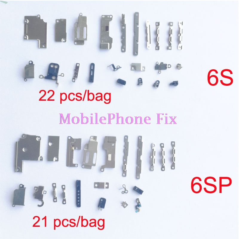 10 Bag/<font><b>Lot</b></font> Full Inner <font><b>Accessories</b></font> Set For <font><b>iPhone</b></font> 6S 6S Plus 6SP 6S+ Complete Small Metal Fastening Holder Inner Parts