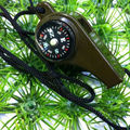 AOTU 3-in-1 Survival Whistle with Compass Thermometer for Outdoor Camping Hiking Free Shipping