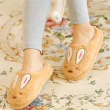 Sugar rabbit autumn and winter cotton shoes half bag with moon shoes home warm shoes plush floor tow couple warm slippers недорго, оригинальная цена
