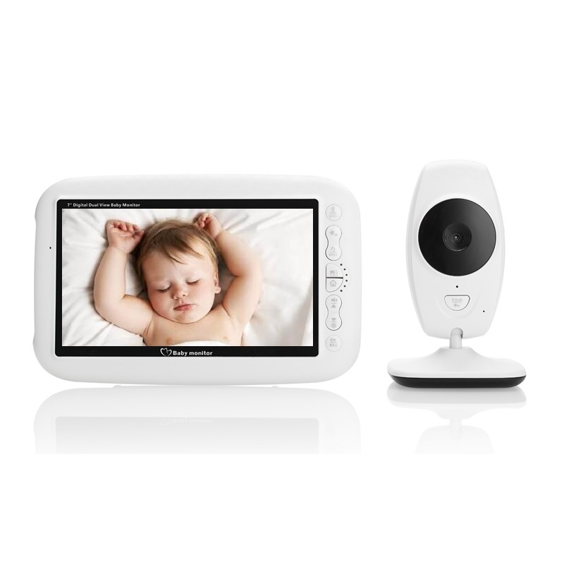 babykam babyphone camera nanny 7.0 inch IR night light vision Intercom Lullabies Temperature Sensor babyphone video camera bebe