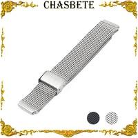 18mm 22mm Stainless Steel Watch Band for Cartier Watchband Men Women Quick Release Metal Strap Wrist Loop Belt Bracelet Black