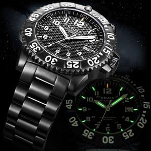 Tritium gas luminous men watch Men's Full Steel Mechanical Watch Luxury top brand watches Automatic mechanical movement watch